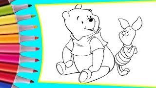 РАСКРАСКИ! Раскрашиваем картинки для детей из мультфильмов Винни Пух и Пятачок