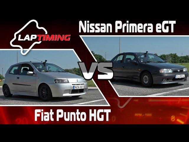 Jani bácsi meséi. Fiat Punto HGT vs. Nissan Primera eGT (LapTiming ep. 85)