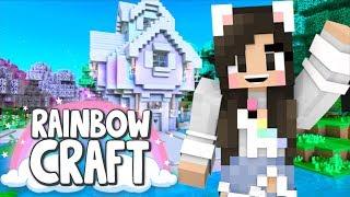 💙NEW Minecraft SURVIVAL SERIES! Rainbowcraft Ep.1