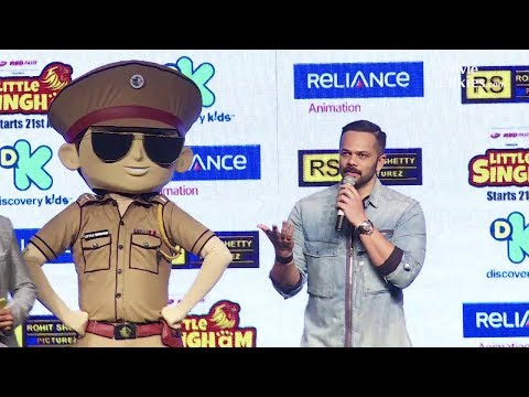 Rohit Shetty At The Launch of New Animated TV Cartoon Show 'Little Singham'