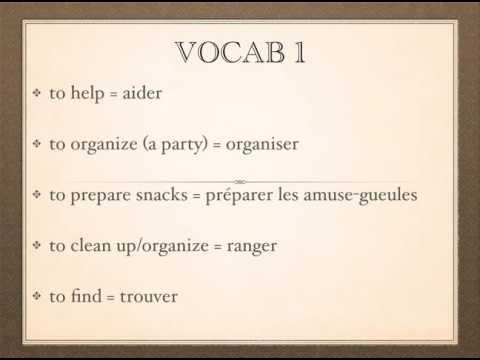 Vocab - Verbs Section 1