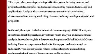 2015 Market Research Report on Global and China Industrial Ovens