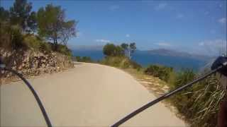 Cycling in Mallorca May 2013 Talaia d' Alcudia Descent. On board with John Potts. Lyme RC