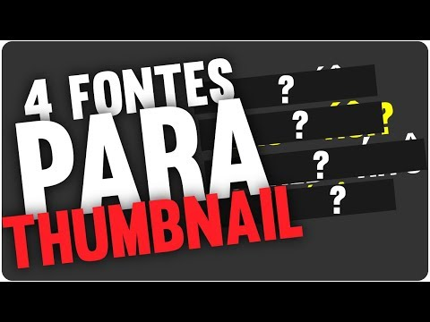 4 Fontes Para Thumbnail | Adobe Illustrator from YouTube · Duration:  3 minutes 34 seconds