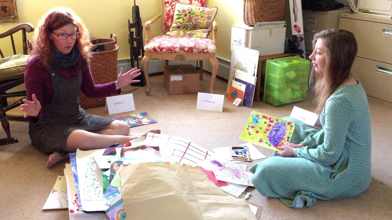 Year Of No Clutter What To Do With Your Kids Artwork Youtube