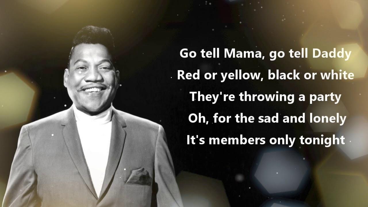 neueste Kollektion billig werden begrenzter Verkauf Bobby Blue Bland - Members Only (Official Lyrics Video)