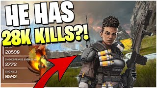 I Got Into A Game With An INSANE BANGALORE With 28,000 Kills! (Apex Legends PS4)