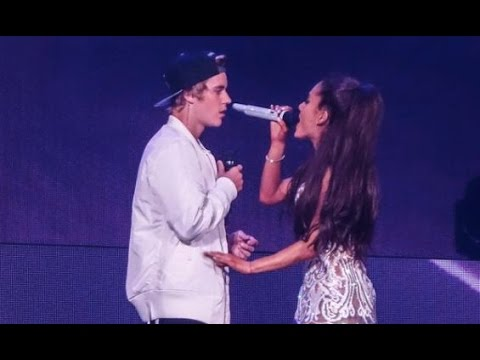 Grande and justin bieber love me harder live miami 2015 youtube