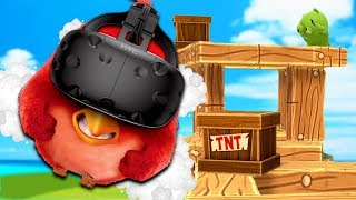 One Bird Challenge! One Bird To Rule Them Pigs in Angry Birds VR Isle of Pigs - HTC Vive Gameplay
