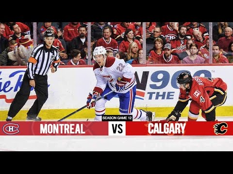 Montreal Canadiens vs Calgary Flames - Season Game 12 - All Goals (30/10/15)