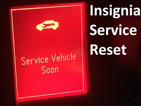 Insignia service light reset Vauxhall Insignia 2012 and service vehicle soon info