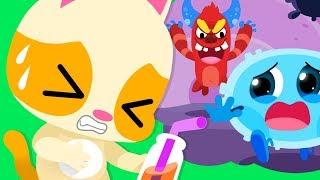 いい菌VS悪い菌の対決 どっちか勝つのかな  | よい生活習慣 | 歯磨きの歌 | 赤ちゃんが喜ぶ歌 | 子供の歌 | 童謡 | アニメ | 動画 | ベビーバス| BabyBus