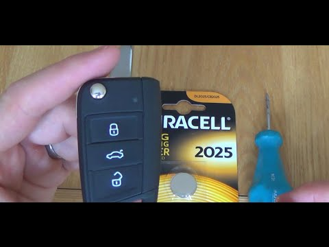 2015 Vw Volkswagen Golf Mk7 Key Fob Battery Replacement Youtube