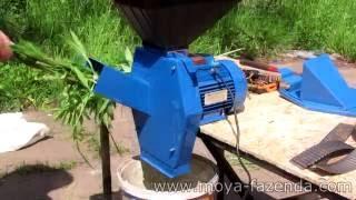 видео Бытовой кормоизмельчитель Эликор 1 исп.4 для зерна, корнеплодов, стеблей растений