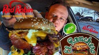 RED ROBIN ☆EL RANCHERO 1-POUND BURGER☆ Food Review!!!