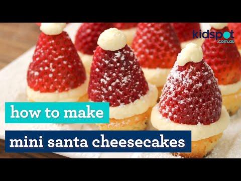 Easy Christmas recipe: How to make mini Santa cheesecakes