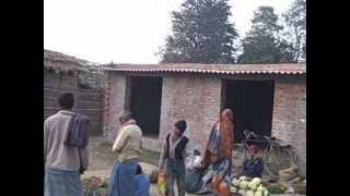 Village market in Muzaffarpur district of Bihar state, India, in January 2011