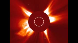 Comet Ikeya-Zhang ..(Comet perihelion on March 18, 2002). Going around Sun and Solar Flares