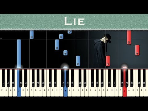 NF - Lie | Piano tutorial + MIDI