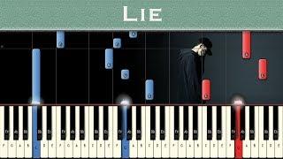 NF - Lie | Piano tutorial + MIDI Video