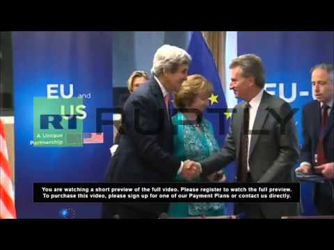 Belgium: Kerry vows to bring Polish and Hungarian gas to Ukraine