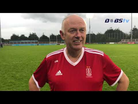 Cuala manager Finbarr Murphy speaks to Dubs TV after Dublin Senior B Semi Final win
