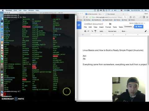 Linux Basics + Simple Project | Part 1 (Screencast)