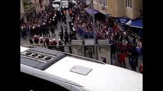 Trabzonspor Fenerbahçe takım otobüsü stada girerken yaşananlar!
