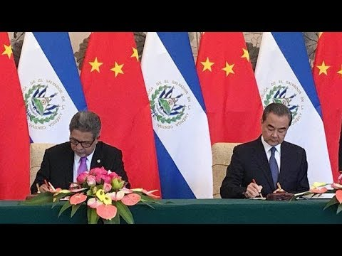 El Salvador establishes diplomatic relationswith China after breaking off ties with Taiwan