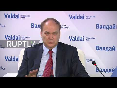 Live: Russian Ambassador Antonov speaks at Valdai forum in Moscow