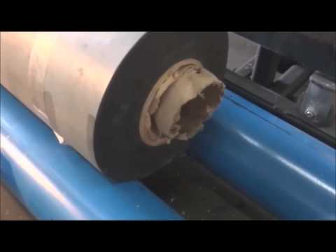 Cutting Epdm Rubber Membrane At High Speed Youtube