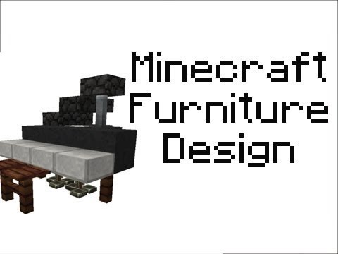 Minecraft Furniture Designs minecraft (any version) - furniture series ep1 - fancy bed and