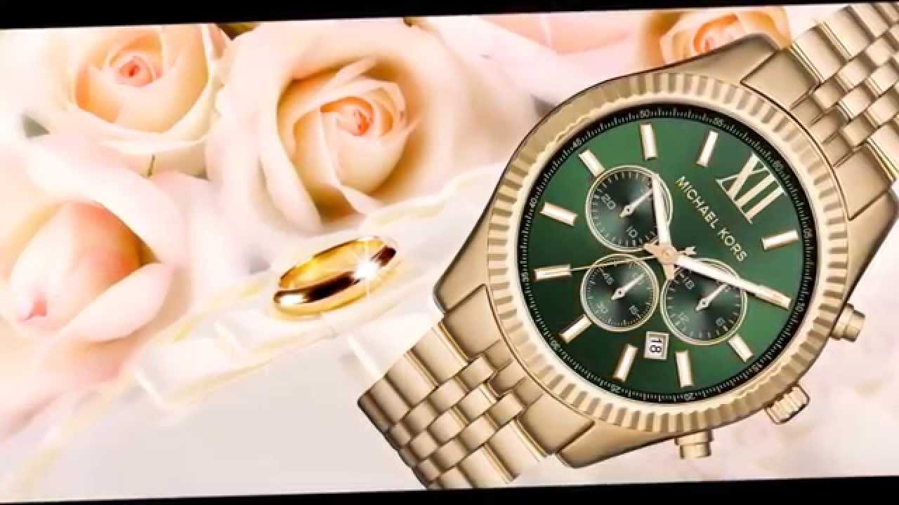471cbfaa0b27 Michael Kors Men s Chronograph Lexington Gold-Tone Steel Bracelet Watch  44mm MK8446