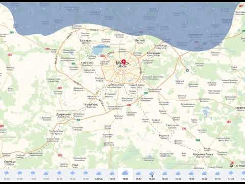 Карта осадков