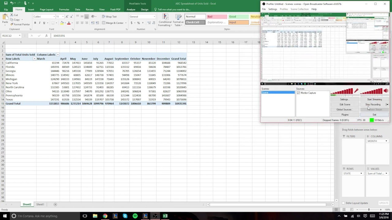 How To Create A Pivot Table Using Microsoft Excel 2016   YouTube