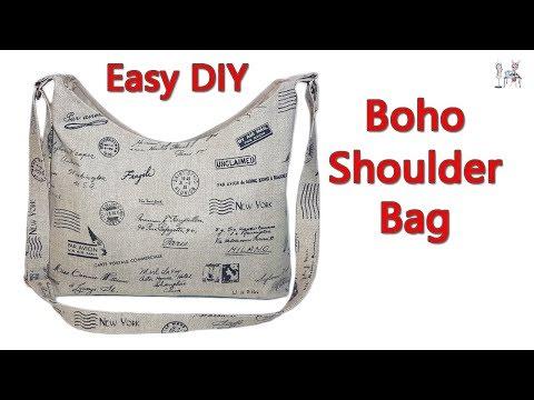 EASY DIY BOHO SHOULDER BAG   CROSSBODY BAG   BOHO BAG   DIY BAG   BAG MAKING IDEAS