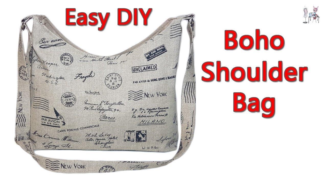 EASY DIY BOHO SHOULDER BAG | CROSSBODY BAG | BOHO BAG ...