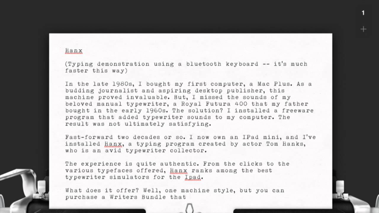 Typewriter Fonts, Sound Effects and Simulators