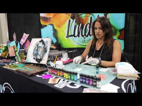 Lindy's Stamp Gang Starburst Sprays from Mixed Media Event 2018