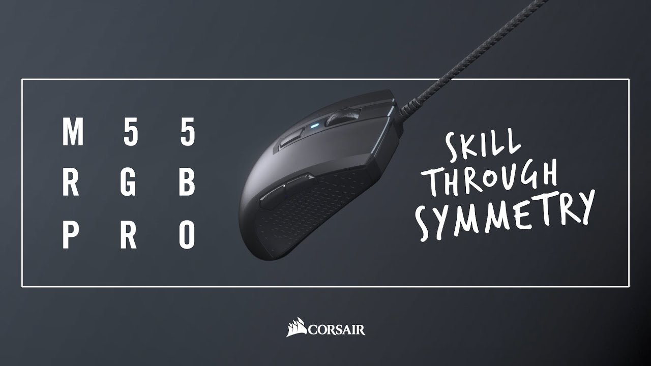 CORSAIR M55 RGB PRO Gaming Mouse - Skill Through Symmetry