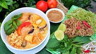 Cách nấu Bún Riêu Chay ngon tuyệt vời. Những ai ăn chay hay đơn giả...