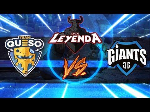 TEAM QUESO Vs. GIANTS GAMING | Final de Playoffs de la Liga Leyenda | Clash Royale