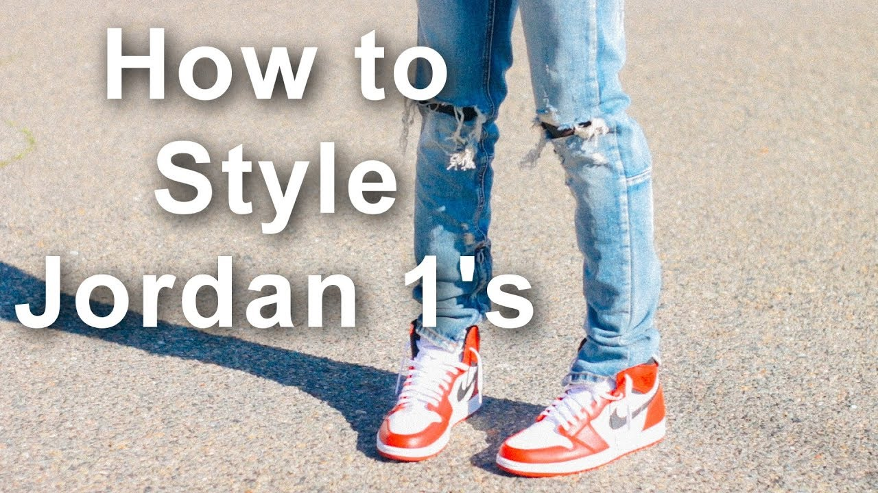 71110fdb052 How to Style Jordan 1's || Chicago 1 Outfits || How to wear Jordan 1's