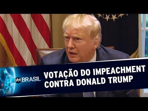 Câmara dos EUA inicia votação do impeachment contra Donald Trump | SBT Brasil (18/12/19)