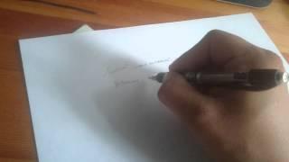 Как держу ручку.
