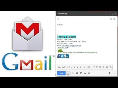 How to make email signature with image