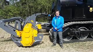 Финские технологии расчистки залежных земель , ротоватор фреза MERICRUSHER MJHS 311STX