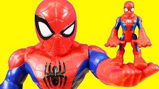 Marvel Superhero Adventures Mega Mighties Spider-man Family Rescues Hulk ! Superhero Toys