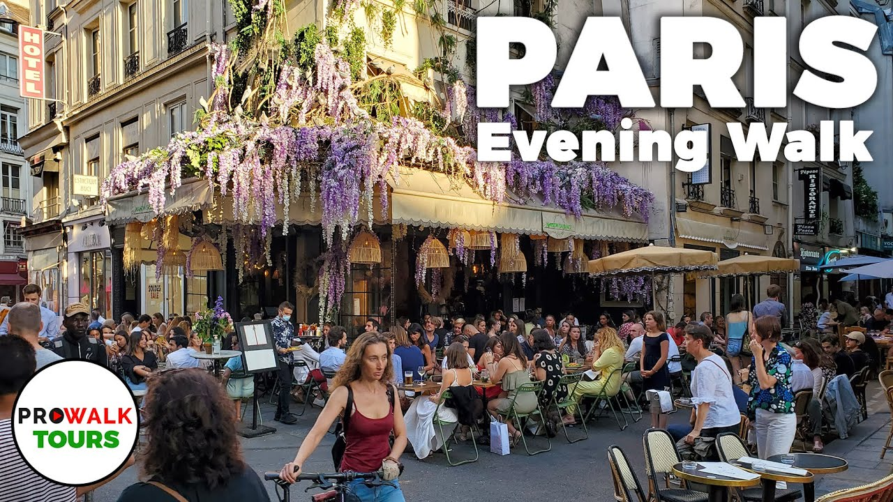 Download Paris Evening Walk and Bike Ride - 4K - With Captions!