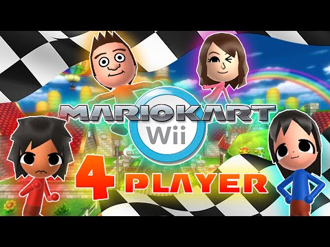 ABM: Mario Kart Wii Gameplay!! 4 Player Match !! HD